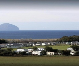 luxury caravan with sea view